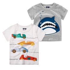 623465548e692 Cotton Summer Kids T shirt For Baby Children T-shirt Cartoon for Boys Tees  Clothes Birthday Gift boy t shirt baby Clothing 1-10T