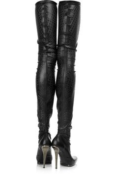 Details about PLEASER Thigh High Stripper Heels Boots Side Lace-Up ...