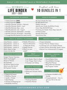 Ultimate Life Binder Printable Planner Budget Planner Habit   Etsy Daily Docket, Bujo, Binder Organization, Organizing Paperwork, Organizing Life, Project Planner, Mom Planner, Planner Book, Monthly Planner