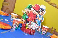 """Alvin & The Chipmunks """"Chipwrecked"""" Centerpiece King Birthday, Third Birthday, 3rd Birthday Parties, Birthday Stuff, Birthday Ideas, Alvin And The Chipmunks, Baby Party, First Birthdays, Centerpieces"""