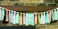 Ballerina Banner, Ballerina Birthday Banner, Ballerina Party, Pink Mint Gold Party Banner, Princess Birthday Banner