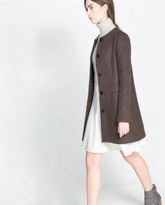 Image 3 of CREWNECK COAT from Zara