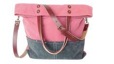 Bolsos messenger - Bolso Messenger Pink Bag/ Tote bag / Leather Strap - hecho a…