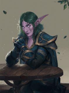 Commissions of Nymirra Bladestar, a night elf warrior Elves Fantasy, Fantasy Rpg, Medieval Fantasy, Fantasy Artwork, World Of Warcraft Game, World Of Warcraft Characters, Warcraft Art, Character Inspiration, Character Art