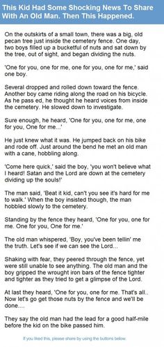 This Kid Had Some Shocking News To Share With An Old Man. Then This Happened. | Alltopics