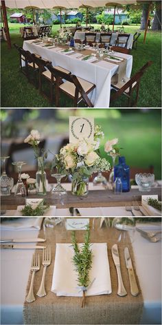 Find burlap and other rustic decor to DIY your wedding.  Pinned by Afloral.com from http://www.weddingchicks.com/2014/07/04/vintage-wedding-with-a-natural-shine/