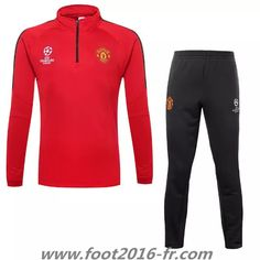 Thailande Nouveau Survetement de foot Manchester United Rouge 2015 2016 -02 decathlon