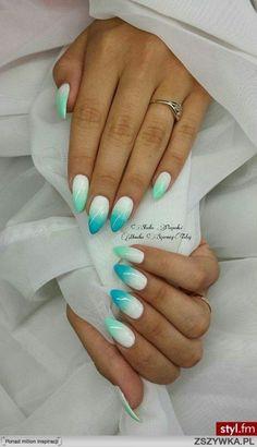 Blue Ombré Nails