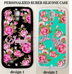 SHABBY CHIC PINK FLORAL MONOGRAM PHONE Case For Samsung Galaxy S8 S7 S6 NOTE 5 4 #UnbrandedGeneric