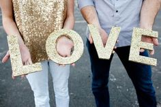 REVEL: DIY Glitter Letters (great idea for New Year's Eve decor).
