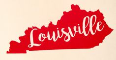 Louisville Cardinals Decal; car decal; laptop decal; kentucky; L1C4 by…