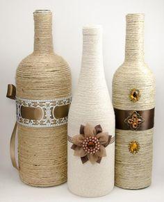 Image result for enfeite de casamento com garrafas