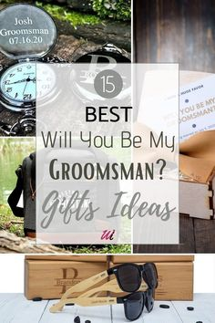I introduce you to a collection of 15 Best Will You Be My Groomsman Gift Ideas. Personalized and useful non alcoholic groomsmen proposal gifts ideas to show your groomsmen and best men you appreciate them for their participants in your wedding and for being involved. The possibilities are endless: from personalized can cooler, engraved pocket watch, toiletry bag, engraved sunglasses, bow tie, suspenders, cufflink set, camping mug ,wooden watch, and more creative, useful, and 'on a budget'…