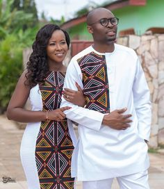 Look into the future together Congratulations Mr & Mrs Ngwang ❤️❤️❤️ May your new home be blessed Mua: Dress:… African Wear Styles For Men, African Shirts For Men, African Attire For Men, African Clothing For Men, Couples African Outfits, Best African Dresses, Latest African Fashion Dresses, African Men Fashion, Ankara Fashion