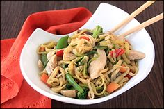 Hungry Girl's Zucchini So Low Mein with Chicken