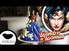 How to make Wonder Woman Doll Cake - YouTube