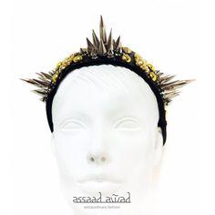 Spike Leather HeadBand/Crown