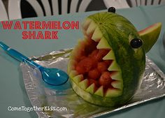 10 Fun Ideas for your next Cookout. I like this watermelon shark!