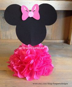 Minnie Mouse DIY Centerpiece KIT by LizsPartyDesigns on Etsy