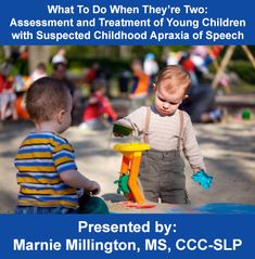 Children between the ages of two and three can be often diagnosed with Suspected Childhood Apraxia of Speech. This webinar will provide strategies for appropriate assessment of the child's entire communication system, as well as treatment plans designed to improve the major areas of need.
