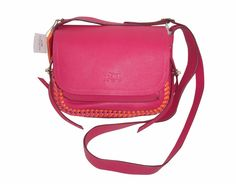NWT Coach Dakotah Flap Crossbody 21 in Pop Ruby Pink Whiplash Leather 35714 Coach Leather Handbags, Pink Crossbody Bag, Leather Briefcase, Laptop Bag, Top Rated, Fun Things, Saddle Bags, Purses, Pop