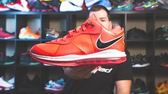 online retailer f6960 cda78 Lebron 8 Solar Red Bottom Sample In Depth Review FIRST LOOK EXCLUSIVE