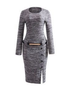 Buy Color Block Elegant Small Lapel Bodycon Dress online with cheap prices and discover fashion Bodycon Dresses at Fashionmia.com.