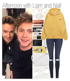 """• Afternoon with Liam and Niall"" by dianasf ❤ liked on Polyvore featuring Ray-Ban, Topshop, adidas Originals, Furla, NARS Cosmetics, Casetify, Daniel Wellington, Urban Decay, Jouer and SUQQU"