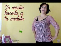 Camiseta de punto de red con margaritas:diy - YouTube