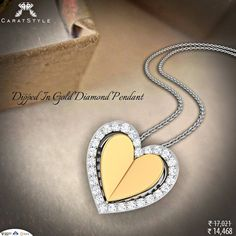 Let a bit of your love dangle on her neck. #pendant #gold #diamond