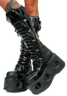 New Rock Daywalker Buckle Platform Boots. So.Beautiful.