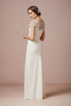 """""""Harlow"""" gown from the back"""