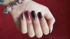 Nails by Sanne Punter, Pink Gellac, Nail art, Glitter
