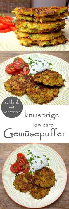low carb Gemüsepuffer Rezept
