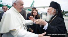 Papa Francisco y el Patriarca Bartolomé. Foto: L'Osservatore Romano.