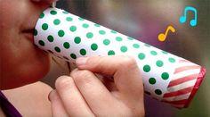 Une activité pour les enfants : fabriquer un kazoo pour la fete de la musique…