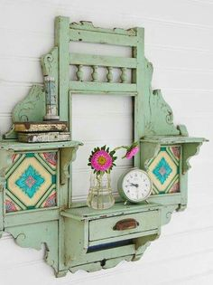 All You Need To Know About Shabby Chic Home Furnishings Funky Furniture, Repurposed Furniture, Shabby Chic Furniture, Furniture Projects, Rustic Furniture, Furniture Makeover, Painted Furniture, Repurposed Items, Recycling Furniture