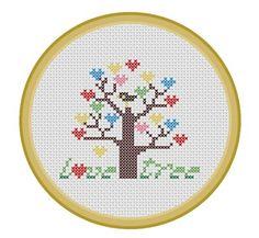 Love Tree. PDF Cross Stitch Pattern by PatternBird on Etsy, $4.00