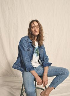 361ca2a31e112 madewell jean jacket worn with madewell x surfrider foundation mother earth  tee + 9