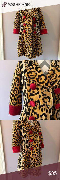 3 Sisters Leopard Print Coat