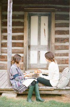 Porch talk. via: Magnie(ficent)