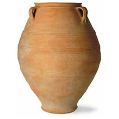 If you didn't know that the Capital Garden Cretan Oil Jar was made of fiberglass, you'd think it was real terracotta. This large vessel c Plastic Barrel Planter, Plastic Plant Pots, Wooden Planter Boxes, Rattan Planters, Metal Planters, Planter Pots, Planter Box With Trellis, Olive Jar, Fiberglass Planters