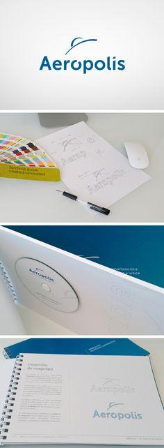 AERÓPOLIS. Diseño de #logotipo e identidad corporativa. Realización de Manual de Identidad. #diseño #branding