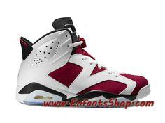 brand new 1c86e 62364 Air Jordan VI (6) Retro Chaussures Jordan Basket Pas Cher Pour Homme  Carmine 384664-160. Chaussures NikeChaussures HommeChaussure BasketRouge  NoirBlancAir ...