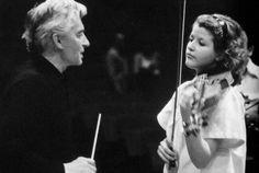 Herbert von Karajan and Anne-Sophie Mutter, 1984