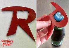 "Robin Bottle Opener $12 (plus $5 ship & tax)  material: american steel, cut on plasma cnc unit color: shown in red; also offered in clear or yellow. custom colors available size: about 3 1/2 in tall ""Like"" us on Facebook to see some of our other designs! www.facebook.com/architaradesign"