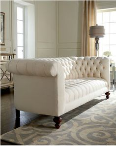 "Old Hickory Tannery ""Elsworth"" tufted sofa, available at horchow.com"