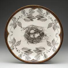 Laura Zindel Design - Small Round Platter: Quail Nest, $265.00 (http://www.laurazindel.com/small-round-platter-quail-nest/)