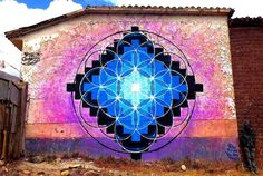 rye quartz 'Quartz Chakana' The 2014 Dedicated to (The great mountain under which Pisac sits) Graffiti Art, Grafitti Street, Reverse Graffiti, Sacred Geometry Patterns, Geometric Mandala, Funky Art, Inca, Soul Art, Land Art