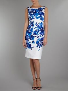 J S Collections Floral print shift dress, £150